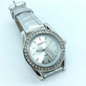 MANHATTEN CROTON Silvertone Watch